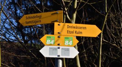 Wanderung von Schindellegi-Feusisberg auf dem Zürichsee Rundweg Nr. 84 via Büel, Etzel, St. Meinrad zur Luegeten oberhalb Pfäffikon SZ