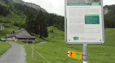 Wanderung auf dem Schabziger Höhenweg von Habergschwänd, oberhalb Filzbach beim Walensee, ins Glarnerland via Nüenealp / Mittlist Nüen, Mullernberg / Mullerenberg, Mullern, Meieli zum Berggasthaus Fronalpstock mit Rufbus nach Näfels