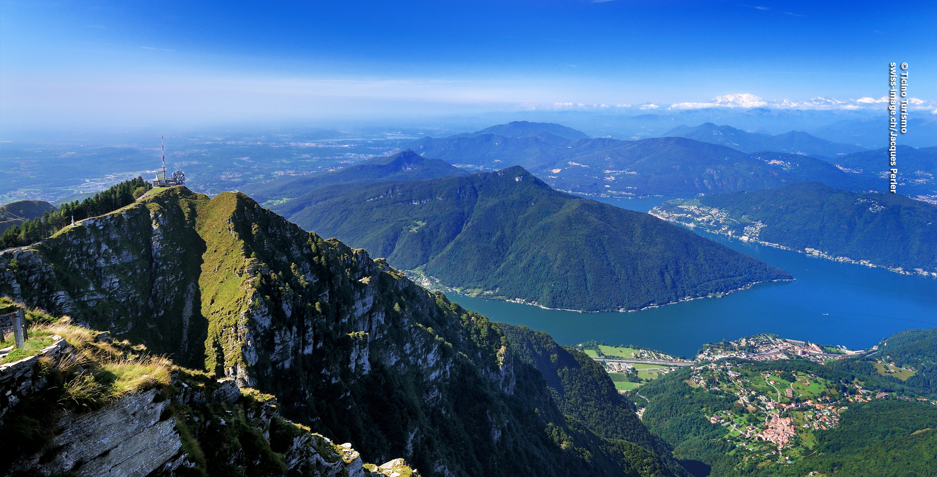 Wanderung von Rovio via Alpe di Melano, Bellavista, Piancone auf den Monte Genersoso hoch oben über den Luganersee im Tessin