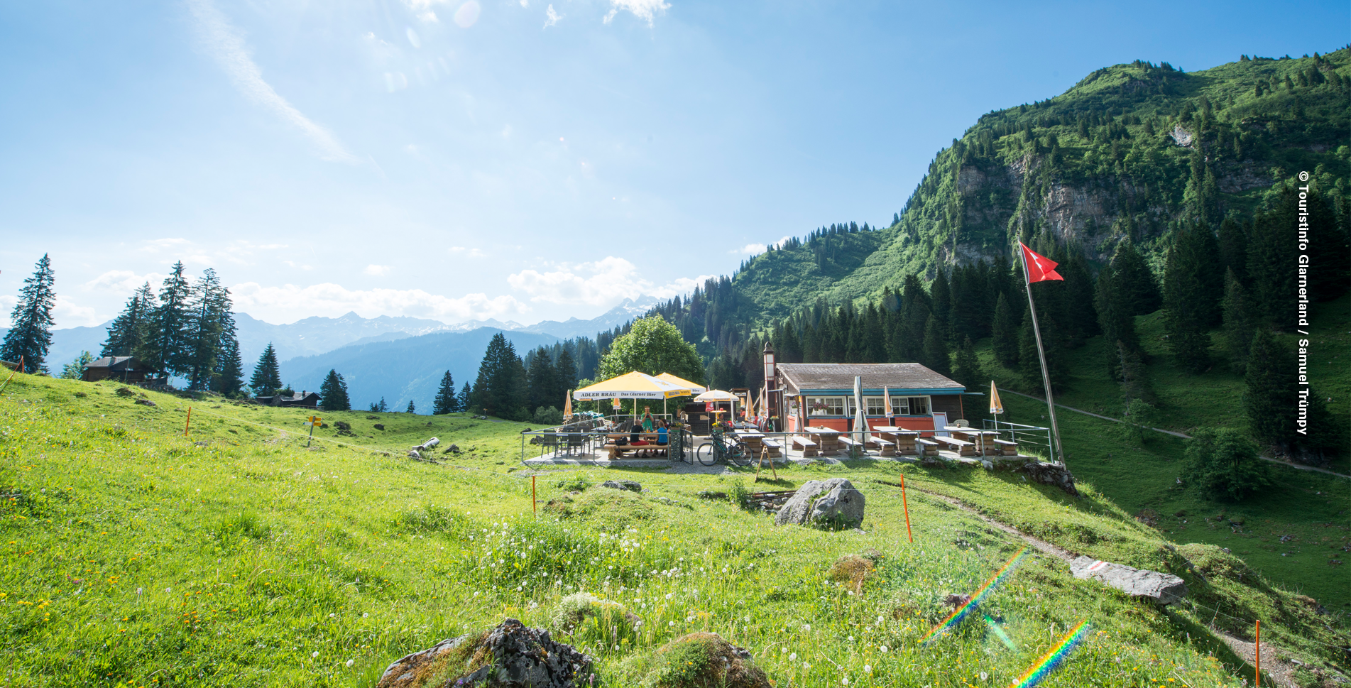 Wanderung von Braunwald zum Oberblegisee via Braunwaldalp, Bächialp nach Brunnenberg (Luchsingen)