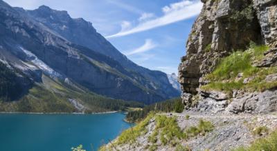 Wanderung vom Oeschinensee, oberhalb Kandersteg, via Heuberg, Oberbergli, Unterbergli, Oeschinensee zurück nach Oeschinen
