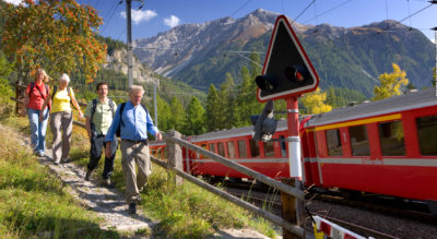 Wanderung von Thusis via Sils im Domletschg, Schinschlucht, Muldain, Alvaschein nach Tiefencastel.