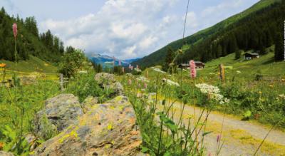 Wanderung im Dischmatal / Dischma Hochtal von Dürrboden nach Davos Dorf auf dem Jakobsweg / Via Jacobi