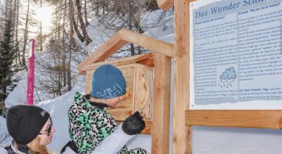 Winterwanderung im Lötschental auf dem Winter-Erlebnisweg (Themenweg) von der Lauchernalp via Hockenalp, Stafel zurück zur Lauchernalp