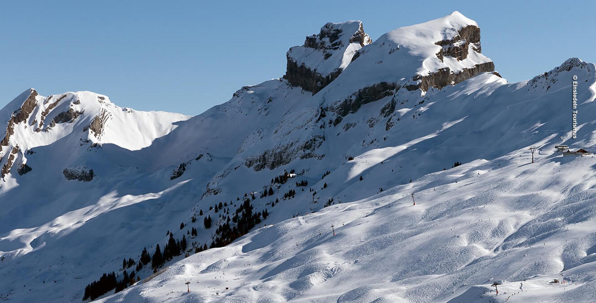 Winterwanderung Hoch-Ybrig von Laucheren (Oberiberg) Steinboden via Fuederegg zum Seeblisee und Seebli