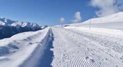 Winterwanderung von Motta Naluns, oberhalb Scuol, via Prui nach Ftan mit Möglichkeit zur Schlittelabfahrt