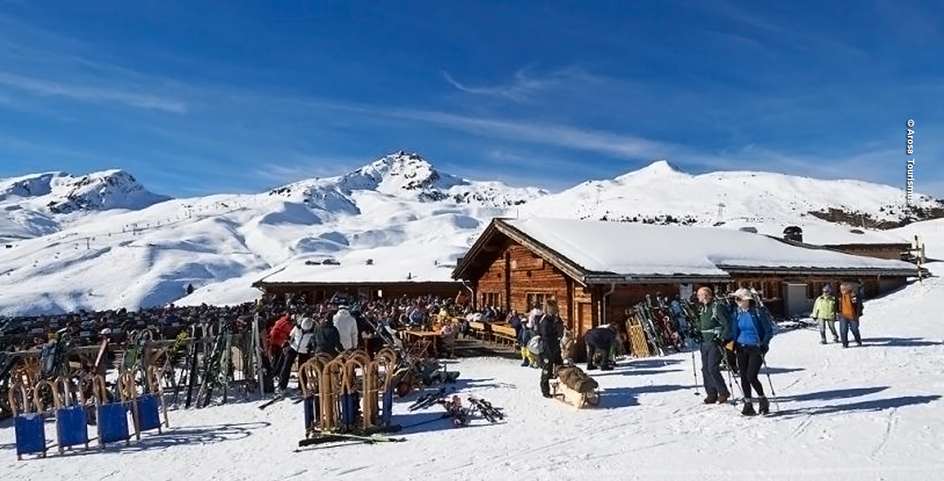 Winterwanderung von Arosa zur Tschuggenhütte / Tschuggen (Tschuggenweg)