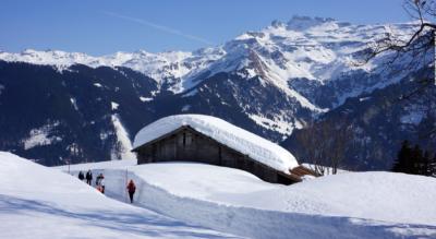 Winterwanderung von Braunwald via Schwettiberg zum Bergrestaurant Grotzenbüel