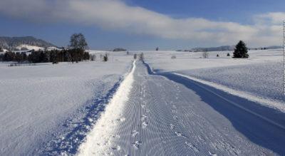 Winterwanderung von Einsiedeln am Sihlsee entlang und über den Schwedentritt zurück nach Einsiedeln