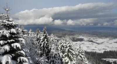 Winterwanderung vom Raten auf den Gottschalkenberg und zum Aussichtspunkt Bellevue und wieder zurück auf den Raten