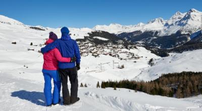 Winterwanderung auf dem Schwelliseeweg von Innerarosa via Schwellisee, Restaurant Alpenblick, Gspan, Restaurant Gspänli zurück nach Innerarosa (Rundweg)