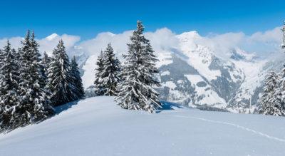 Winterwanderung auf dem Jaunpass, der Passverbindung zwischen dem Simmental und dem Greyerzerland, via Bädermoos zur Bäderegg mit Blick auf das Wildstrubel-Massiv und die imposanten Zähne der Gastlosen.