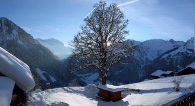 Winterwanderung auf der Sonnenterasse Weissenberge oberhalb Sernftal im Glarnerland