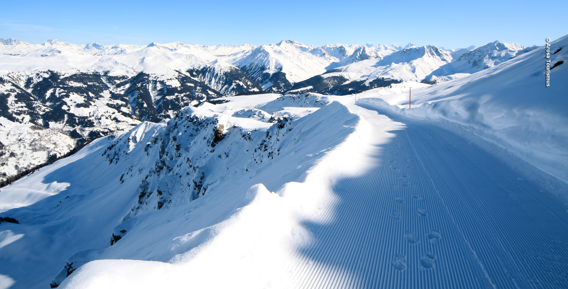 Winterwanderung vom Weisshorn via Sattelhütte, Scheidegg, Rot Tritt, Prätschalp, Ober Prätschsee, Prätschi, Obersee nach Arosa