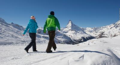 Winterwanderung von Zermatt via Zmutt zur Bergstation Furi