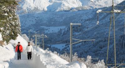 Winterwanderung von Sedrun via Bugnei, Mumpé Tujetsch, Segnas, Cuoz nach Disentis / Mustér