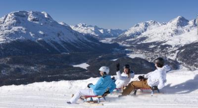 Winterwanderung auf Muottas Muragl auf dem Philosophenweg (Pontresina / St. Moritz) und anschliessender Schlittelabfahrt nach Punt Muragl