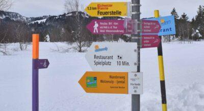 Winterwanderung von der Wolzenalp, oberhalb Krummenau, im Toggenburg nach Nesslau Neu St.Johann