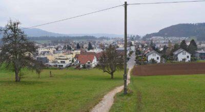 Wanderung von Würenlos, Kanton Aargau, zum Aussichtsturm Altberg und zur Weinschenke Altberg und weiter via Geroldswil nach Weiningen Zürich