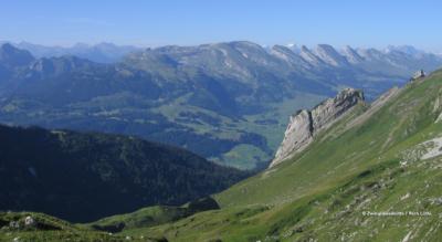 Wanderung im Alpstein von der Stauberen zur Zwinglipasshütte und weiter nach Wildhaus